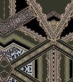 Las Líneas Verdes del diseño geométrico forman textura hermosa de la tela del ejemplo del estilo stock de ilustración