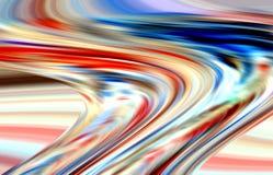 Las líneas vivas en colores pastel anaranjadas lisas abstractas de las ondas, ponen en contraste el fondo abstracto imagen de archivo libre de regalías