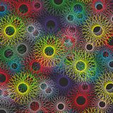 Las líneas y los círculos coloridos wallpaper el fondo del vector del concepto Imágenes de archivo libres de regalías