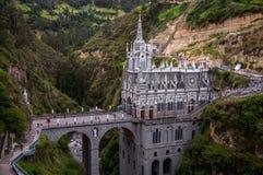 Las Lajas圣所-伊皮亚莱斯,哥伦比亚 免版税库存图片
