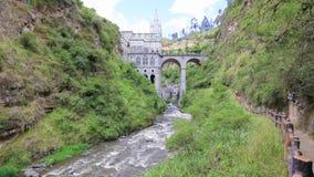 Las Lajas道路伊皮亚莱斯哥伦比亚圣所  股票录像