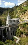 Las Lajas cathedral, Colombia. Stock Photography