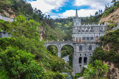 Las Lajas Church in South of Colombia Royalty Free Stock Images