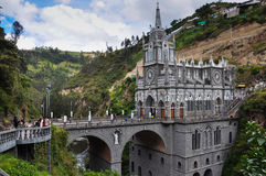 Las Lajas Church in South of Colombia Stock Image