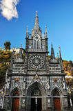 Las Lajas Front. A frontal view of Las Lajas cathedral in Ipiales, Colombia Royalty Free Stock Photos