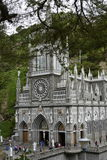 Las Lajas - gothic church in Colombia. Royalty Free Stock Photo