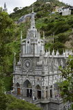 Las Lajas - gothic church in Colombia. Royalty Free Stock Image