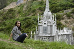 Las Lajas - gothic church in Colombia. Stock Photo