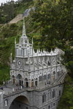 Las Lajas - gothic church in Colombia. Stock Image