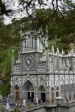 Las Lajas - iglesia gótica en Colombia Foto de archivo libre de regalías