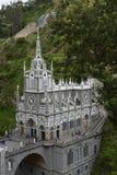 Las Lajas - iglesia gótica en Colombia Imagen de archivo