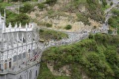 Las Lajas - iglesia gótica en Colombia Imágenes de archivo libres de regalías