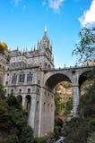 Las Lajas Sanctuary. Las Lajas cathedral in southern Colombia Stock Photos