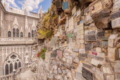 Las Lajas Sanctuary Is A Basilica Church, Colombia Royalty Free Stock Photos