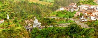 Las Lajas Sanctuary Panorama Royalty Free Stock Image