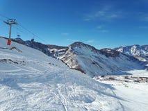 Las Leñas Ski Resort, Argenina Arkivbilder