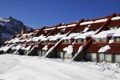 Las Leñas ski resort. Classic building from the main area about Las Leñas ski resort Stock Photos