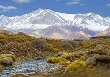 Las Leñas is one of the largest Andean ski resorts in Argentina Stock Photography