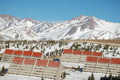 las lenas ski kurortu Fotografia Stock