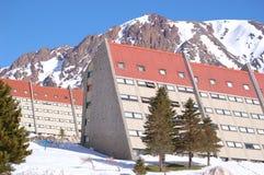 Las lenas Skiort in Argentinien Lizenzfreie Stockfotos
