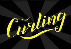 Las letras amarillas del deporte que se encrespan mandan un SMS en fondo negro Ilustración del vector foto de archivo