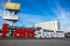 Las letras Amsterdam Foto de archivo