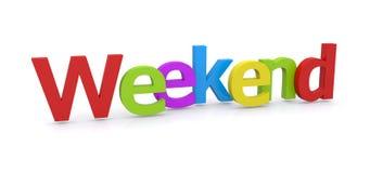 fin de semana de la palabra 3D Fotografía de archivo