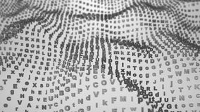 Las letras de ABC agitan el fondo abstracto Foto de archivo libre de regalías