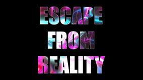 Las letras del escape brillante brillante de la realidad mandan un SMS, 3d rinden el fondo, ordenador que genera para el juego Fotografía de archivo