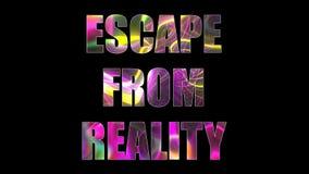 Las letras del escape brillante brillante de la realidad mandan un SMS, 3d rinden el fondo, ordenador que genera para el juego Fotografía de archivo libre de regalías