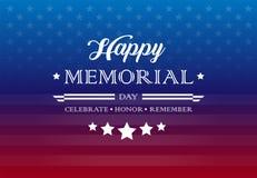 Las letras del fondo de los saludos del día de fiesta de Memorial Day - celebre, libre illustration