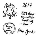 Las letras del invierno fijaron 2017 Imágenes de archivo libres de regalías
