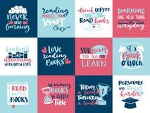 Las letras dibujadas mano de la motivación de la lectura del amor del concepto de la imaginación citan diseño de la plantilla del libre illustration
