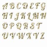 Las letras inglesas originales colorean lentejuelas libre illustration