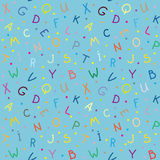 Las letras Textura inconsútil Foto de archivo libre de regalías