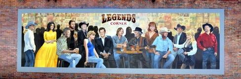 Las leyendas arrinconan en Nashville, Tennessee Imágenes de archivo libres de regalías
