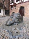 Las liebres de Nuremberg del monumento en Nuremberg Fotos de archivo