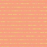 Las lineas horizontales puntearon amarillo en el modelo coralino Fondo inconsútil del vector Coordenada simple Las líneas geométr libre illustration