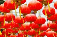 Las linternas chinas adornan Fotografía de archivo