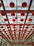 Las linternas rojas Fotografía de archivo libre de regalías