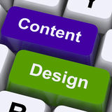Las llaves contentas y del diseño muestran la promoción creativa Imagen de archivo