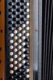 Las llaves del acordeón viejo Imagen de archivo libre de regalías