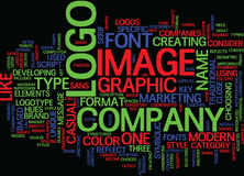 Las llaves a un gran concepto de Logo Text Background Word Cloud Foto de archivo