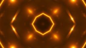Las luces abstractas del fractal del oro, 3d rinden el contexto, generación del ordenador metrajes
