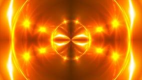 Las luces abstractas del fractal del oro, 3d rinden el contexto, generación del ordenador stock de ilustración