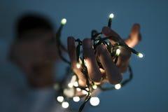 Las luces de la Navidad Fotos de archivo