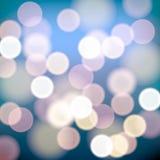 Las luces de la Navidad empañaron el fondo ilustración del vector