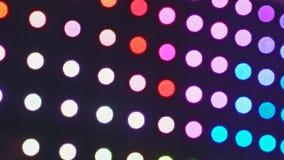 Las luces Defocused resumen círculos de mudanza del bokeh del fondo de la falta de definición almacen de metraje de vídeo