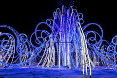 Las luces del Año Nuevo fotos de archivo
