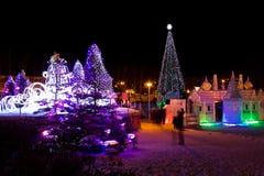 Las luces del Año Nuevo Fotos de archivo libres de regalías